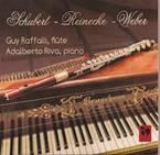 Franz SCHUBERT : Introduction et Variations « Trockne Blumen » . Carl REINECKE : Sonate pour flûte. Carl Maria von WEBER : Sonate pour piano n°2 (transcription pour flûte et piano). Guy Raffalli, flûte traversière, Adalberto Riva, piano. 1CD VDE GALLO (www.vdegallo.ch ) : CD 1462. TT : 79' 16.