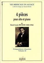 René-Louis BECKER (1882-1956) : 4 pièces