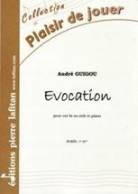 Evocation pour cor en fa ou mib et piano. Préparatoire.