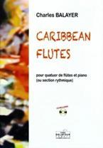 Caribbean flutes pour quatuor de flûtes et piano
