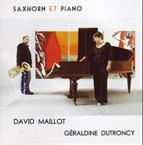 Saxhorn & piano.  David Maillot, saxhorn.