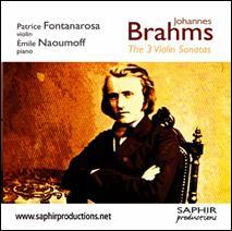 Johannes BRAHMS : Les trois Sonates pour violon