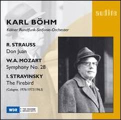 Wolfgang Amadeus MOZART : Symphonie n°28.  Richard STRAUSS : Don Juan.  Igor STRAVINSKY : L'Oiseau de feu (suite de 1919).
