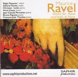 Maurice RAVEL : Œuvres pour piano et violon & piano.