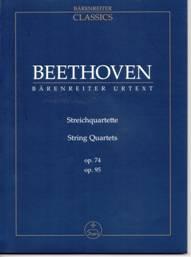 Quatuors à cordes op.74 et 95. Urtext. Bärenreiter. Partition de poche : TP 918.  Matériel : BA 9018.