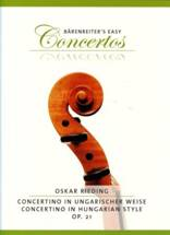 Oskar RIEDING : Concertino in ungarischer Weise
