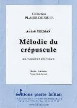 Mélodie du crépuscule  pour saxophone alto et piano.