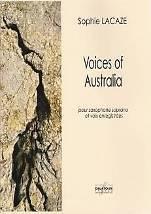 Voices of Australia  pour saxophone soprano et voix enregistrées.
