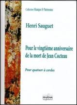 Pour le vingtième anniversaire de la mort de Jean Cocteau.