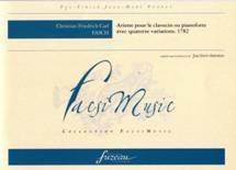 Christian Friedrich Carl FASH : Ariette pour le clavecin ou pianoforte, avec 14 variations.