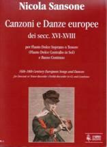 Nicola SANSONE :Canzoni e Danze europee dei secc. XVI-XVIII