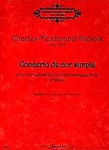 Concerto de cor simple  pour cor naturel (ou cor chromatique) et piano
