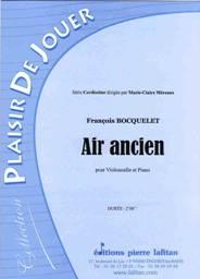 François BOCQUELET : Air ancien pour violoncelle & piano