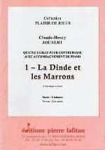 Quatre fables pour contrebasse avec accompagnement de piano.