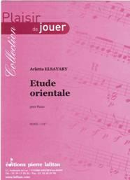 Étude orientale pour piano.