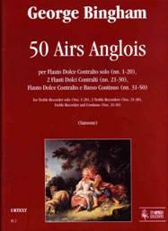 50 Airs Anglois pour flûte à bec