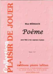 Poème pour flûte à bec soprano & piano.