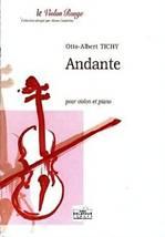 Otto-Albert TICHY : Andante pour violon et piano.
