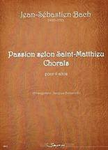 Jean Sébastien BACH : Passion selon Saint Matthieu, chorals  pour quatre altos. Arrangement : Jacques Borsarello. Fin 1er cycle, début second cycle. Sempre più : SP0153.
