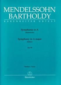 MENDELSSOHN-BARTHOLDY : Symphonie in A « Italienische » op. 90