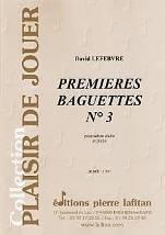 Premières baguettes N°3  pour caisse claire et piano