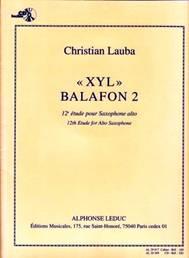 « XYL » Balafon 2.  12e Étude pour saxophone alto