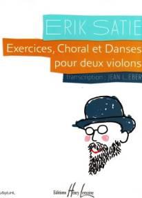 Exercices, choral & danses pour deux violons.