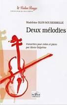 Madeleine BLOY-SOUBERBIELLE : Deux mélodies transcrites pour violon et piano par Alexis Galpérine. Delatour : DLT1687.