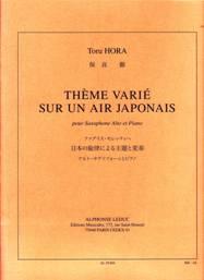 Thème varié sur un air japonais pour saxophone alto & piano