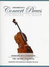 Edward MOLLENHAUER : The infant Paganini. Concert Pieces arrangées pour violoncelle et piano par Christoph Sassmannshaus. Bärenreiter : BA 10693.