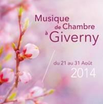 Le Festival Musique de Chambre à Giverny 2014 : Un très bon cru.