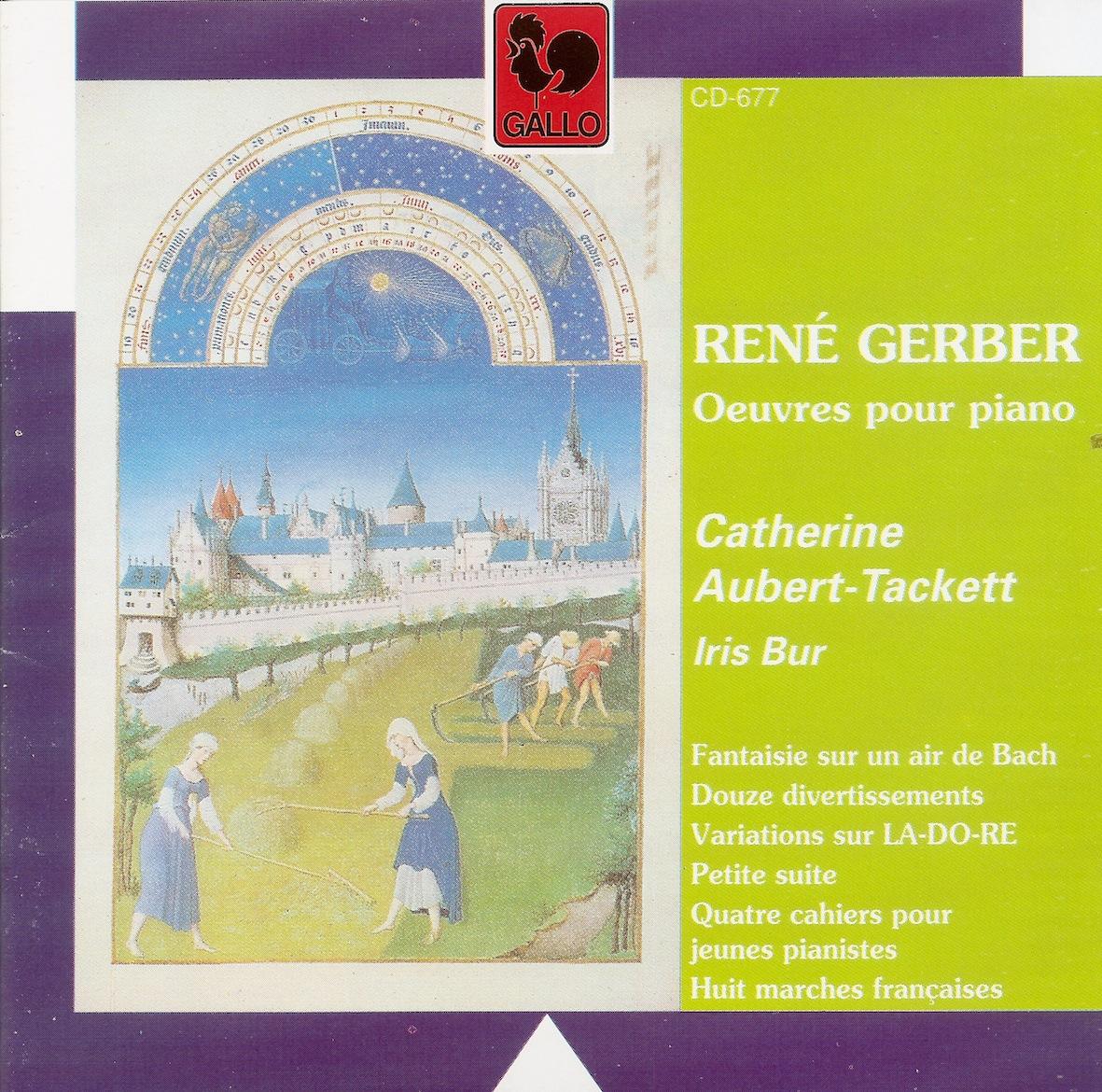 df938268aa3643 René GERBER, né à Travers en 1908, a fait ses études à l Université de  Zurich, puis au Conservatoire de cette ville et ensuite à l École Normale  de Musique ...