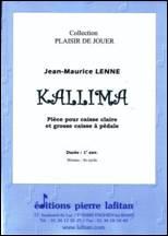 Jean-Maurice LENNE : KALLIMA.  Pièce pour caisse claire & grosse caisse à pédale